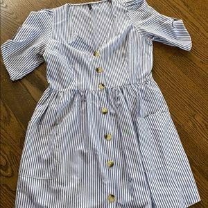 Size L stripe Zara mini dress